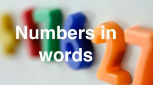 Level 4 - Numbers in words