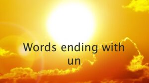 words ending with un - Free Education Africa